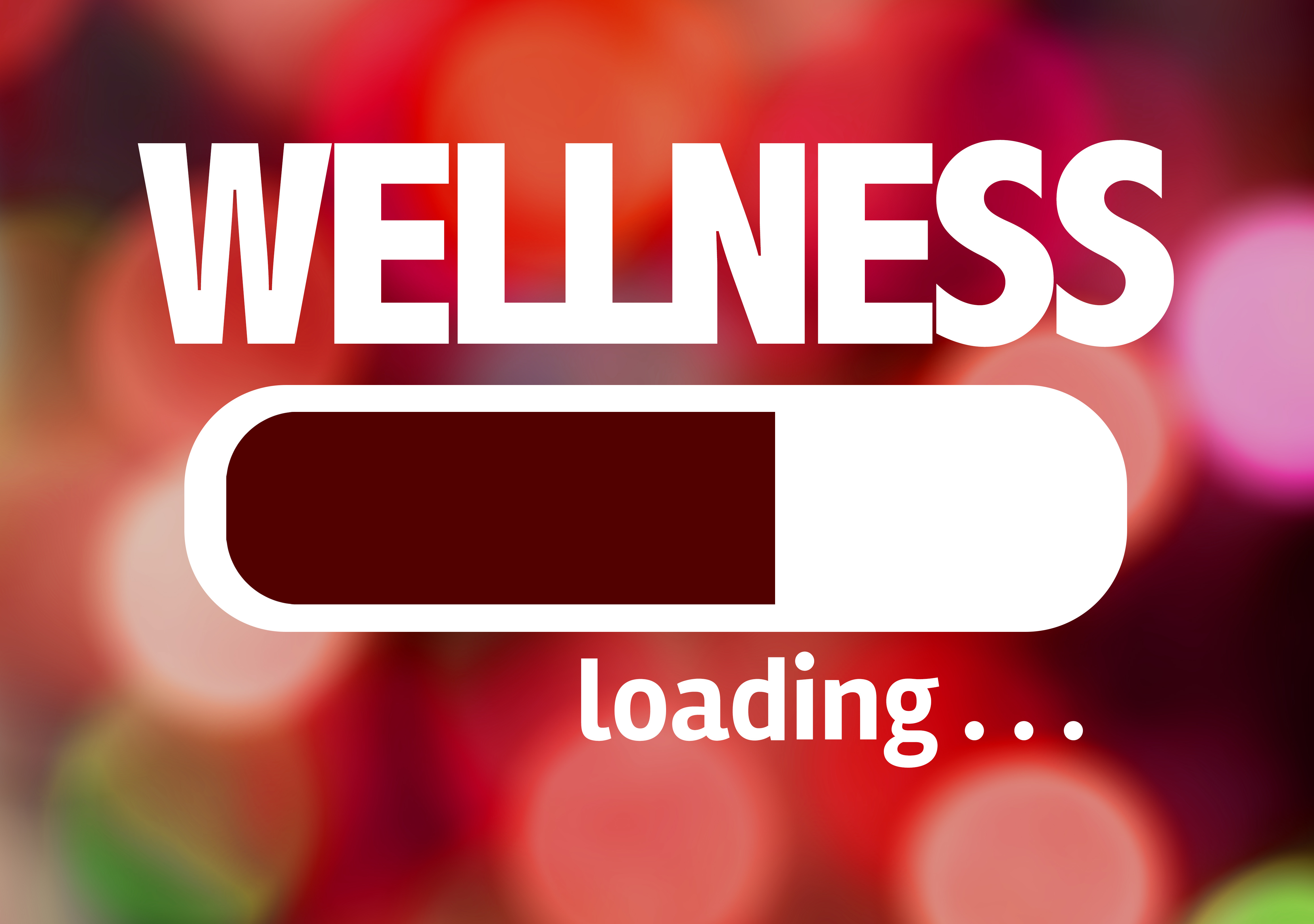 Progress Bar Loading with the text: Wellness